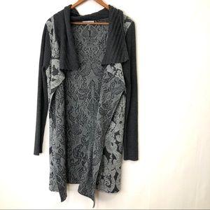 ALBERO MAKALI Gray Sweater cardigan Large damark